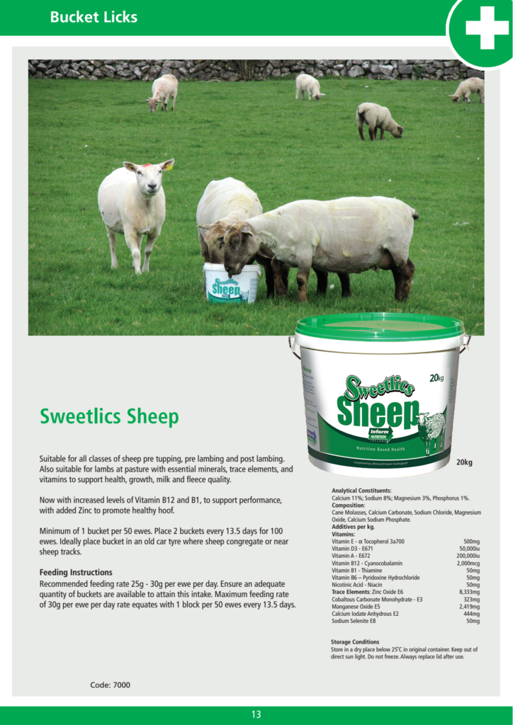 Mineral additive for sheep goat and Sweetlics Sheep