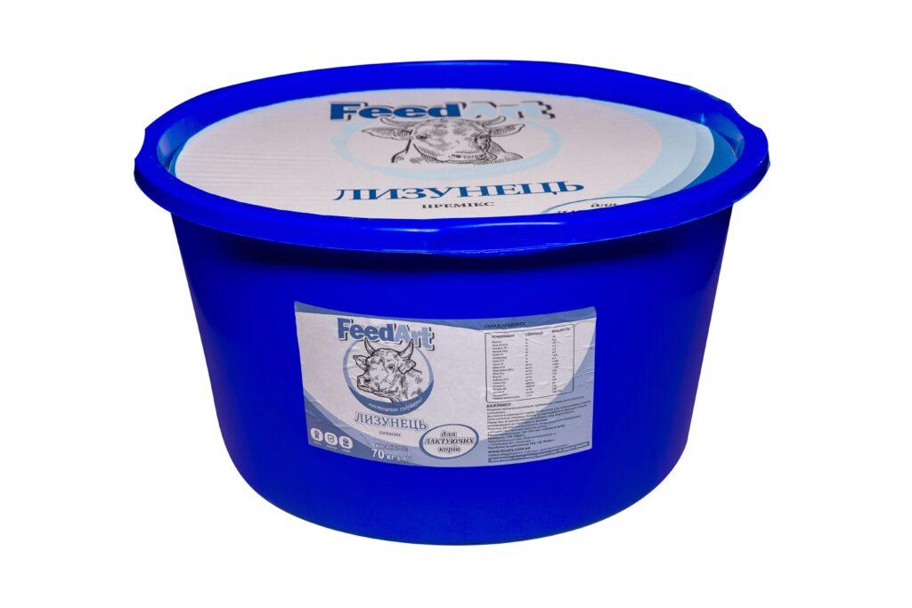 Лизунец-премикс «FeedArt» для лактирующих коров 70Кг.